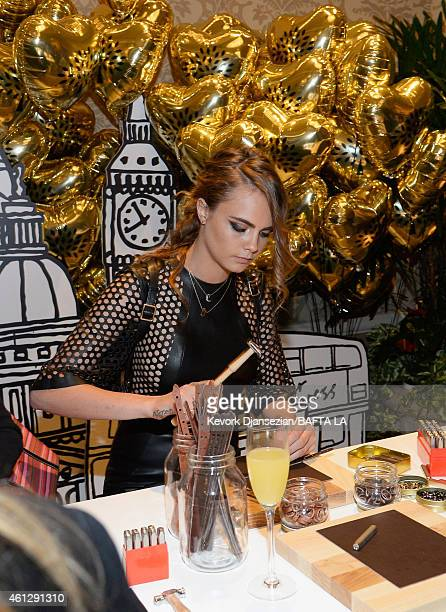 Actress/model Cara Delevingne in Mulberry attends the BAFTA Los Angeles Tea Party at The Four Seasons Hotel Los Angeles At Beverly Hills on January...