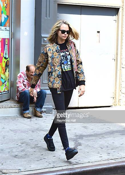 Actress/Model Cara Delevingne is seen walking in Soho on July 28 2016 in New York City
