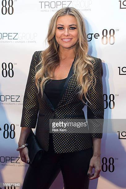 Actress/model Carmen Electra arrives at the Formula 1 United States Grand Prix celebration benefiting Boys Girls Clubs Of America and the Hurricane...
