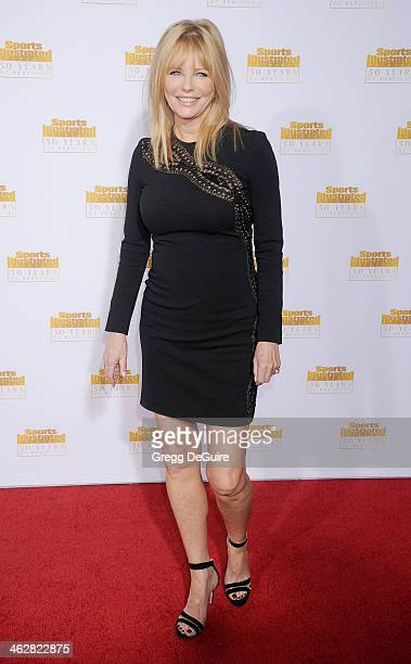Actress/model Cheryl Tiegs arrives at the 50th Anniversary Celebration Of Sports Illustrated Swimsuit Issue at Dolby Theatre on January 14 2014 in...