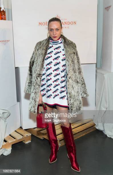 Actress/Model Chloe Sevigny wearing Fendi attends Moet Chandon and Virgil Abloh New Bottle Collaboration Launch at The New Museum on October 16 2018...