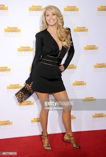 Actress/model Christie Brinkley arrives at the 50th Anniversary Celebration Of Sports Illustrated Swimsuit Issue at Dolby Theatre on January 14 2014...