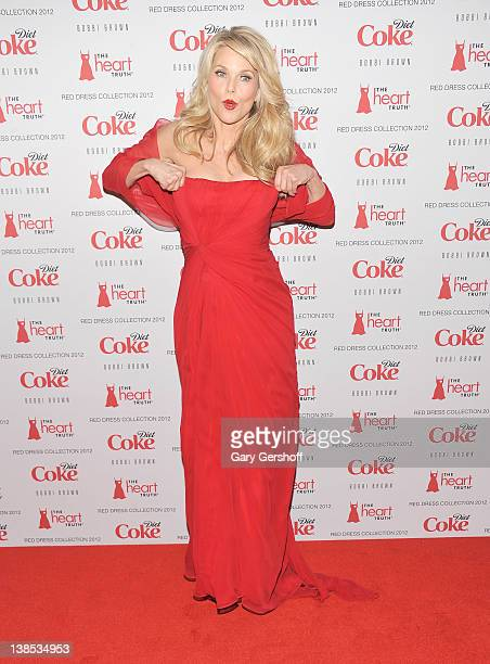 Actress/model Christie Brinkley attends the Heart Truth's Red Dress Collection Fall 2012 fashion show during MercedesBenz Fashion Week at Hammerstein...