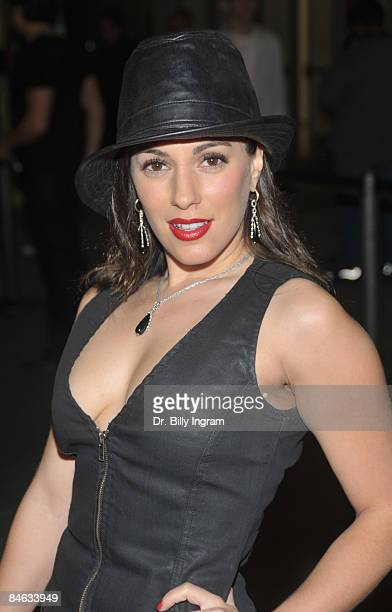 Actress/Model Christina De Rosa arrives at the Los Angeles premiere of 2 Dudes And A Dream at the ArcLight Theater on February 3 2009 in Hollywood...