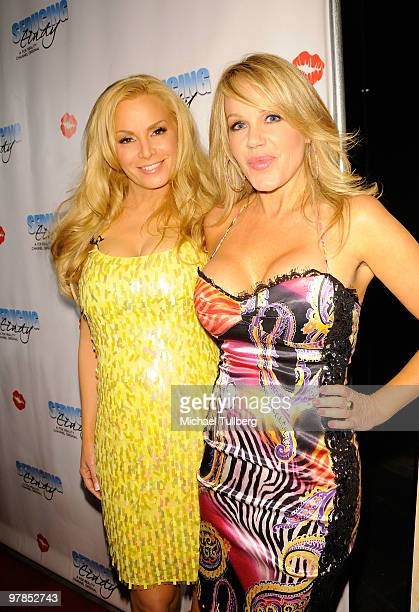 Actress/model Cindy Margolis and Playboy Playmate Luann Lee arrive at the season finale party for her Fox Reality show 'Seducing Cindy' on March 18...