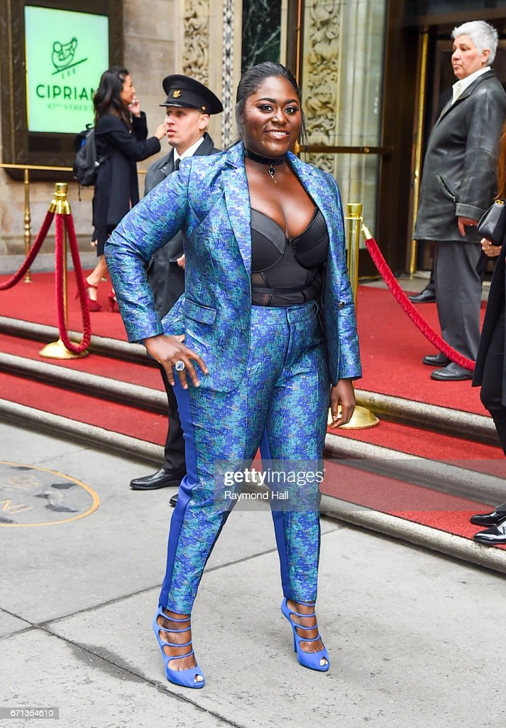 Actress/Model Danielle Brooks arrives to Variety's Power of Women New York luncheon at Cipriani Midtown on April 21, 2017 in New York City.