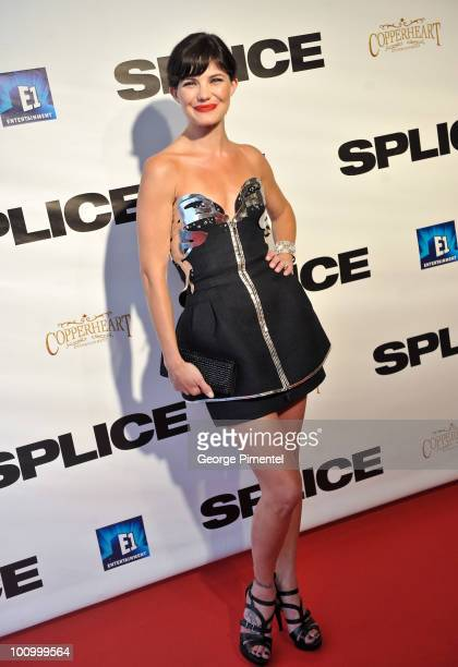 Actress/model Delphine Chaneac attends the canadian premiere of 'Splice' at The Elgin Theatre on May 26 2010 in Toronto Canada