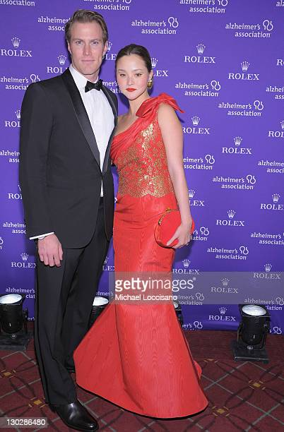 Actress/model Devon Aoki and husband James Bailey attend the 2011 Rita Hayworth Gala at The Waldorf=Astoria on October 25 2011 in New York City