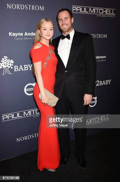 Actress/model Devon Aoki and James Bailey attend the 2017 Baby2Baby Gala at 3Labs on November 11 2017 in Culver City California