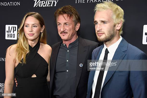 Actress/model Dylan Penn cohost Sean Penn and actor Hopper Penn attend the 6th Annual Sean Penn Friends HAITI RISING Gala Benefiting J/P Haitian...