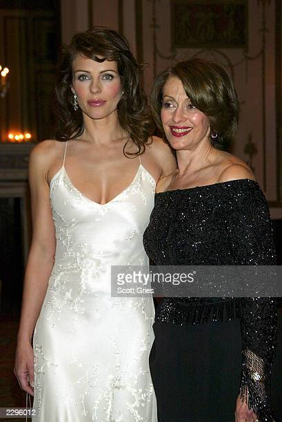 Actress/model Elizabeth Hurley and Evelyn Lauder arrive at the Breast Cancer Research Foundation s 4th Annual Spring Gala at the WaldorfAstoria Hotel...