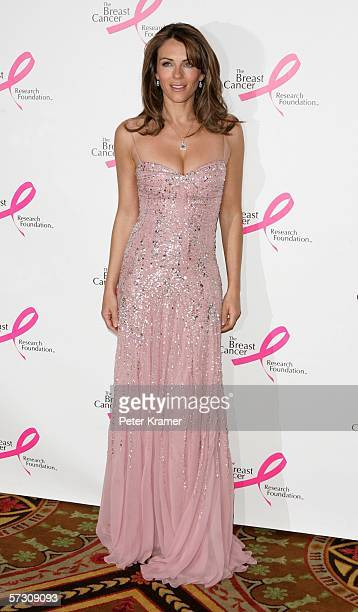 Actress/model Elizabeth Hurley attends the Breast Cancer Research Foundation's 'Very Hot Pink Party' at the Waldorf Astoria on April 10th 2006 in New...