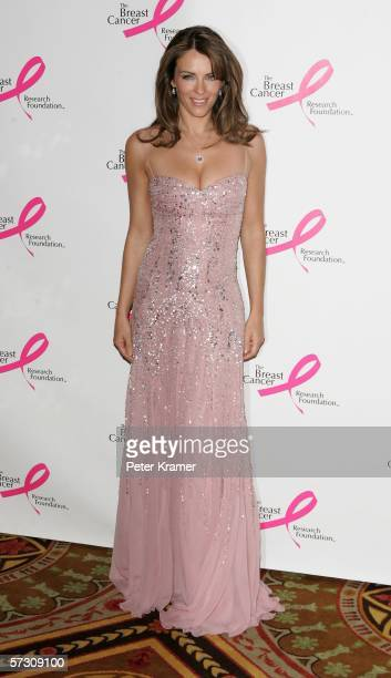 Actress/model Elizabeth Hurley attends the Breast Cancer Research Foundation's Very Hot Pink Party at the Waldorf Astoria on April 10th 2006 in New...