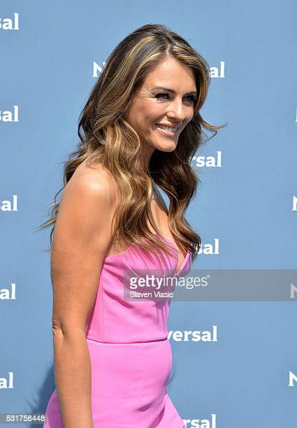 Actress/model Elizabeth Hurley attends the NBCUniversal 2016 Upfront Presentation on May 16 2016 in New York New York