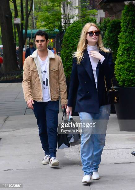 Actress/Model Elle Fanning and Max Minghella are seen on May 3 2019 in New York City