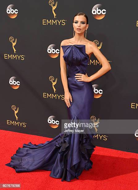 Actress/model Emily Ratajkowski arrives at the 68th Annual Primetime Emmy Awards at Microsoft Theater on September 18 2016 in Los Angeles California