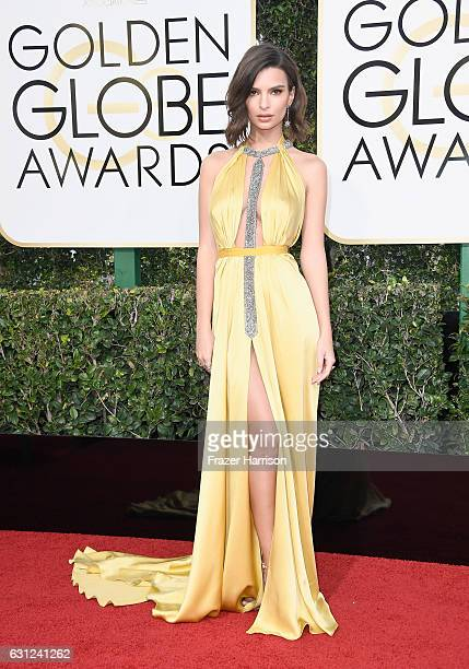 Actress/model Emily Ratajkowski attends the 74th Annual Golden Globe Awards at The Beverly Hilton Hotel on January 8 2017 in Beverly Hills California