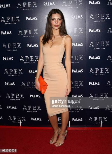 Actress/model Emily Ratajkowski attends the grand opening of Apex Social Club and Camden Cocktail Lounge at the Palms Casino Resort on May 26 2018 in...