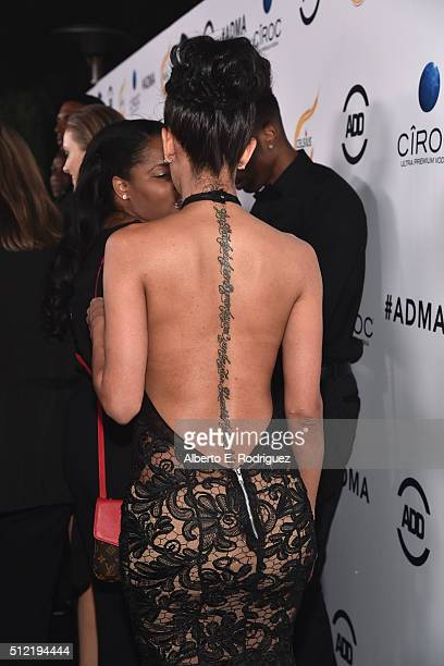 Actress/model Erica Mena attends the ALL Def Movie Awards at Lure Nightclub on February 24 2016 in Hollywood California
