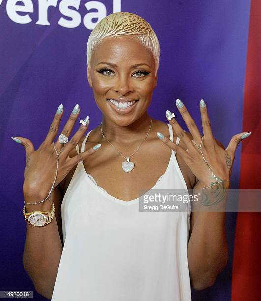 Actress/model Eva Marcille arrives at the 2012 NBC Universal TCA summer press tour at The Beverly Hilton Hotel on July 24 2012 in Beverly Hills...