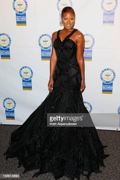 Actress/model Eva Marcille attends the 22nd Annual NAACP Theatre Awards at Directors Guild Of America on November 5 2012 in Los Angeles California