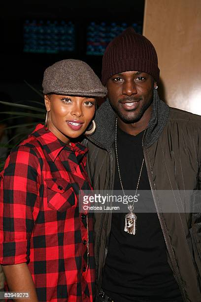 Actress/model Eva Pigford and actor Lance Gross attend Akon Holly Robinson Peete's Children's Holiday Bowl at the Lucky Strike Lanes on December 7...