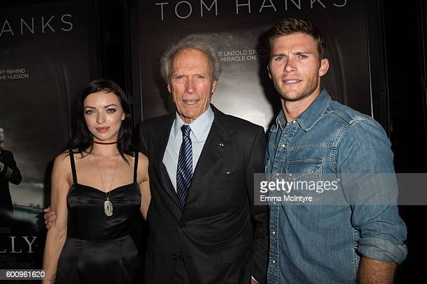 Actress/model Francesca Eastwood director/actor/producer Clint Eastwood and actor/model Scott Eastwood attend the screening of Warner Bros Pictures'...