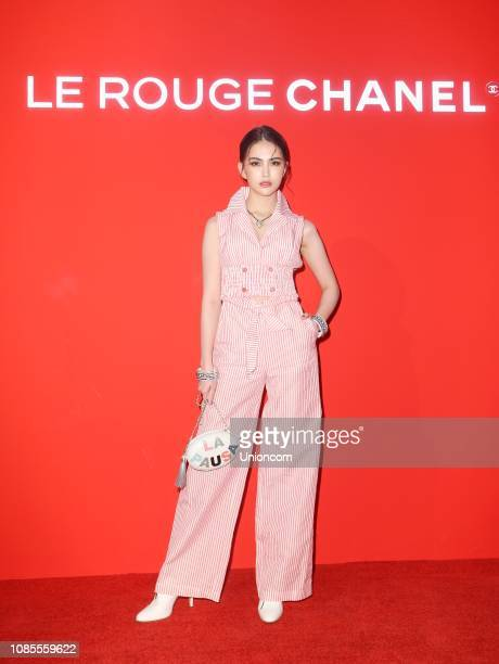 Actress/model Hannah Quinlivan attends Le Rouge Chanel event on December 21 2018 in Taipei Taiwan of China
