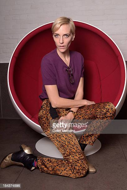 Actress/model Hannelore Knuts who stars in the film 'Dave' poses for a portrait session during the 39th Ghent Film Festival on October 18 2012 in...