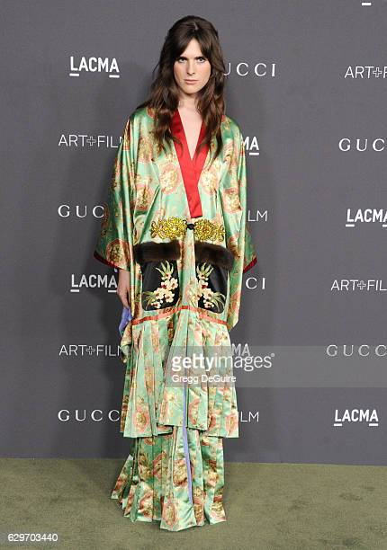 Actress/model Hari Nef, wearing Gucci, arrives at the 2016 LACMA Art + Film Gala Honoring Robert Irwin And Kathryn Bigelow Presented By Gucci at...
