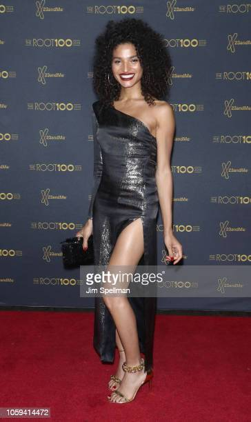 Actress/model Indya Moore attends the 2018 The Root 100 gala at Pier Sixty at Chelsea Piers on November 8 2018 in New York City