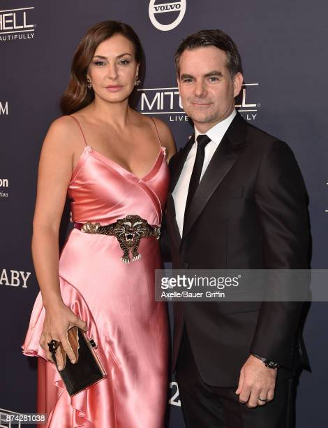 Actress/model Ingrid Vandebosch and former professional stock car racing driver Jeff Gordon attend the 2017 Baby2Baby Gala at 3LABS on November 11...