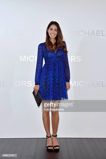 Actress/model Izumi Mori attends the opening event for the Michael Kors Ginza Flagship Store on November 20 2015 in Tokyo Japan