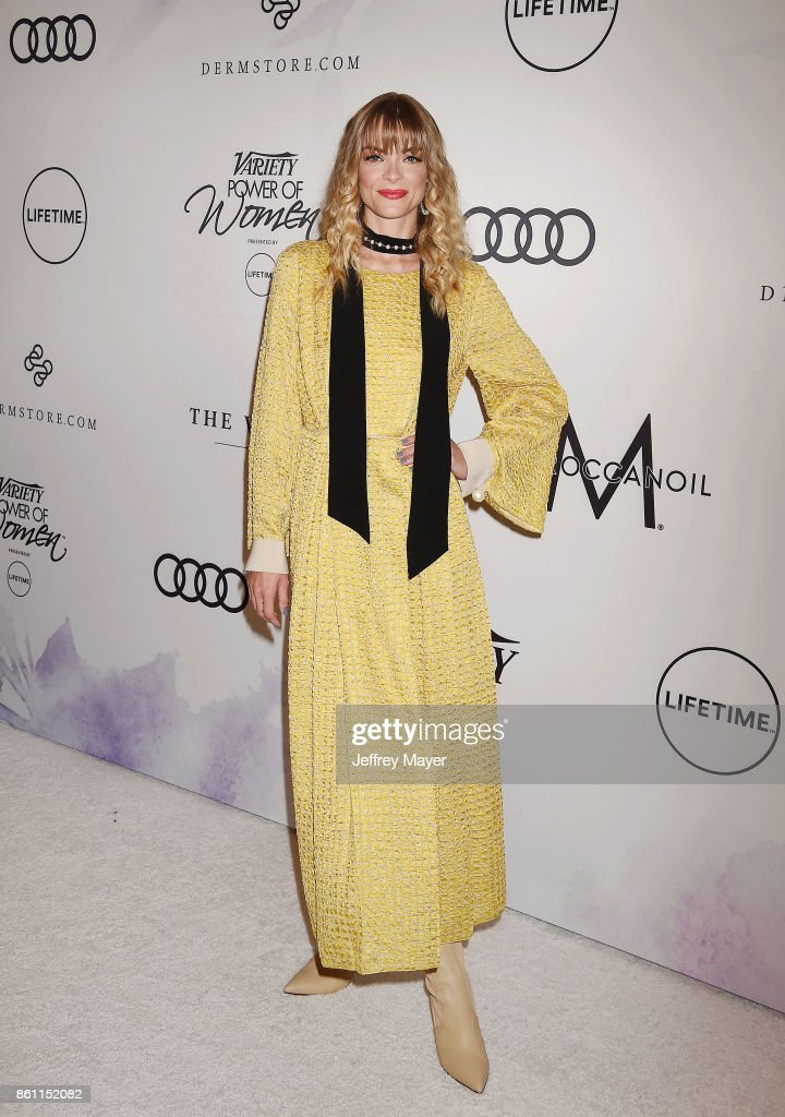 Actress/model Jaime King arrives at the Variety's Power Of Women: Los Angeles at the Beverly Wilshire Four Seasons Hotel on October 13, 2017 in Beverly Hills, California.