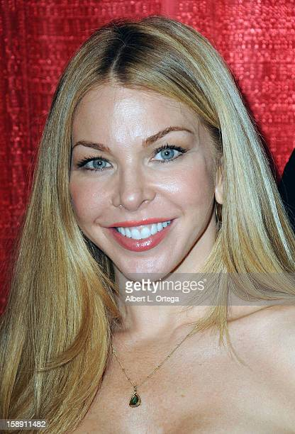 Actress/model Jennifer Lyons arrives for Blood Magazine Launch Party held at Infusion Lounge on October 23 2012 in Universal City California