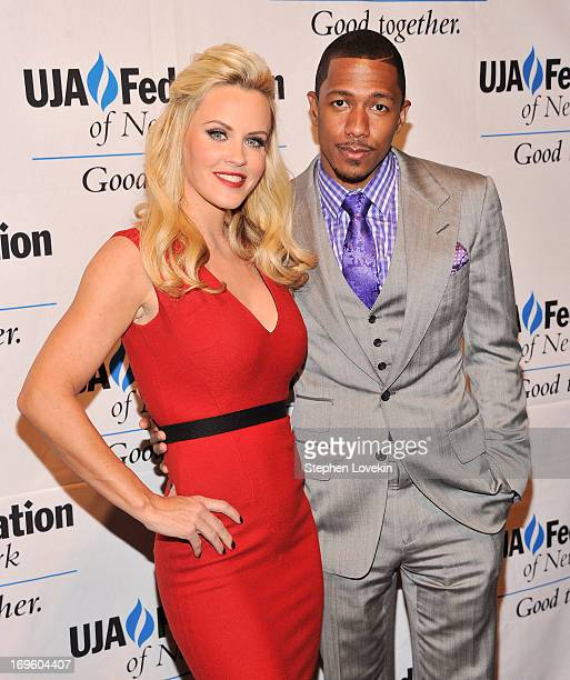 Actress/model Jenny McCarthy and actor/TV personality Nick Cannon attend the UJAFederation Of New York Entertainment Media And Communications...