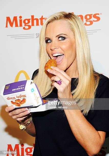 Actress/model Jenny McCarthy attends the McDonald's New Mighty Wings Launch Event at Skylight at Moynihan Station on September 15, 2013 in New York...