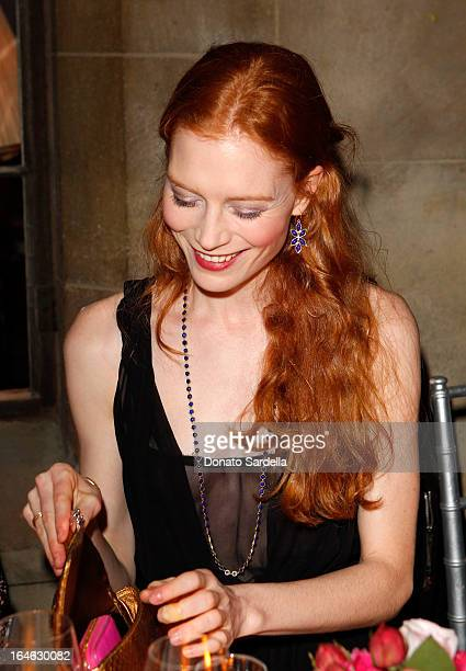 Actress/model Jessica Joffe attends the Dior Beauty PreGolden Globe Dinner at Chateau Marmont on January 9 2013 in Los Angeles California