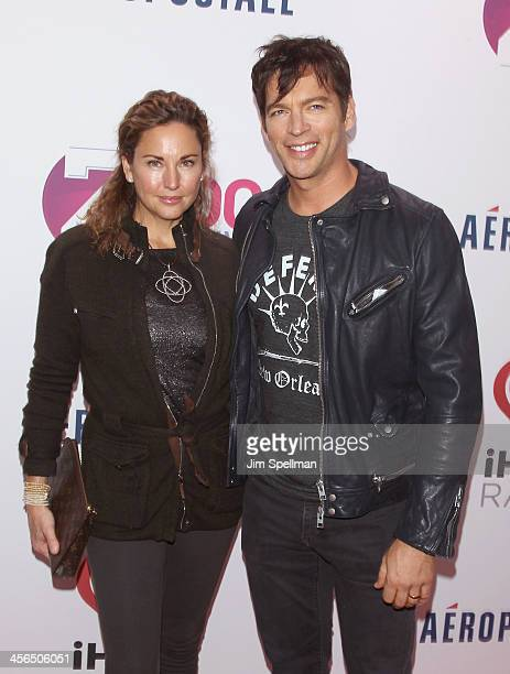 actress/model Jill Goodacre and singer Harry Connick Jr attend Z100's Jingle Ball 2013 at Madison Square Garden on December 13 2013 in New York City