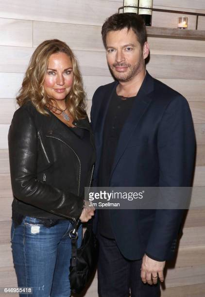 Actress/model Jill Goodacre and singer/TV personality Harry Connick Jr attend the season 2 premiere after party for 'Shades Of Blue' hosted by NBC...