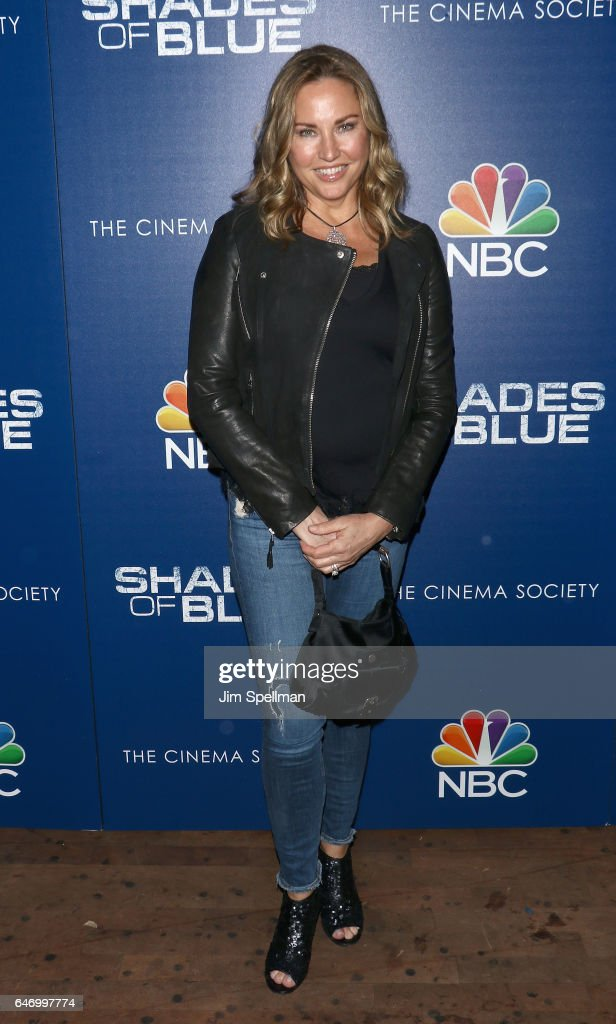 Actress/model Jill Goodacre attends the season 2 premiere of 'Shades Of Blue' hosted by NBC and The Cinema Society at The Roxy on March 1, 2017 in New York City.