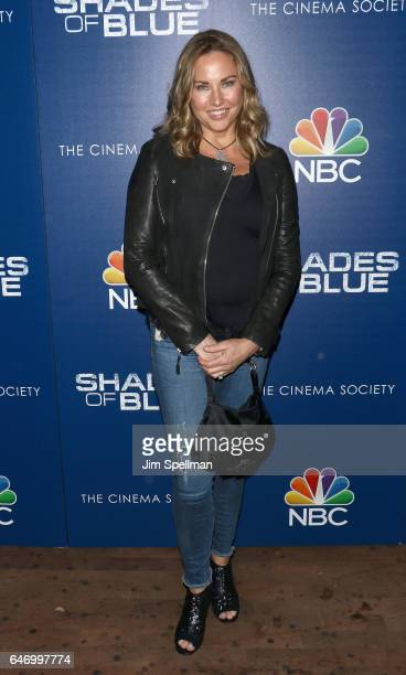Actress/model Jill Goodacre attends the season 2 premiere of Shades Of Blue hosted by NBC and The Cinema Society at The Roxy on March 1 2017 in New...