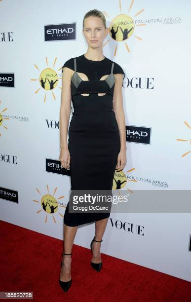 Actress/model Karolina Kurkova arrives at the Dream For Future Africa Foundation Gala at Spago on October 24, 2013 in Beverly Hills, California.