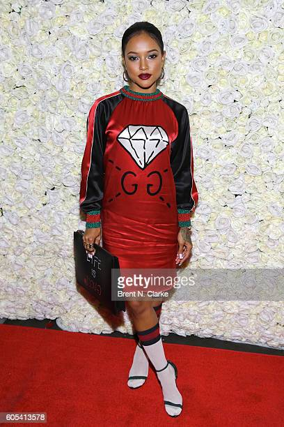 Actress/model Karrueche Tran attends the 3rd Annual The Elements on 5th Ave Fashion Show held at Pier 59 on September 13 2016 in New York City