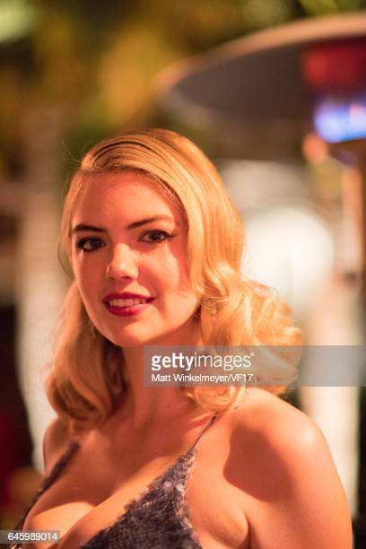 Actress/model Kate Upton attends the 2017 Vanity Fair Oscar Party hosted by Graydon Carter at Wallis Annenberg Center for the Performing Arts on...