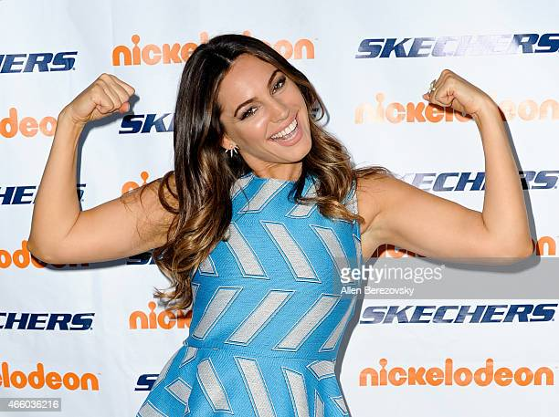 Actress/model Kelly Brook attends the 6th Annual Skechers Pier to Pier Friendship Walk check presentation at Shade Hotel on March 12, 2015 in...