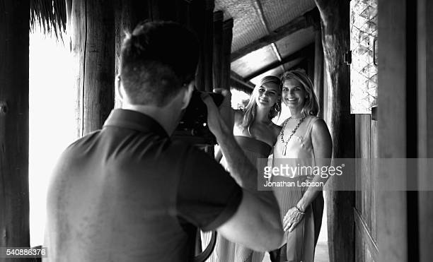Actress/model Kelly Rohrbach recipient of the 2016 Maui Film Festival Rising Star Award in Wailea poses for a portrait with Anne Rohrbach during the...