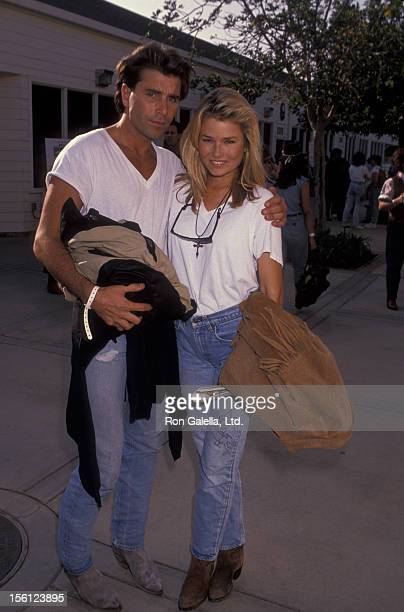 Actress/Model Kimber Sissons and actor Richard Scott attending Third Anniversary for Los Angeles Rodeo on August 3 1991 at the Los Angeles Equestrian...