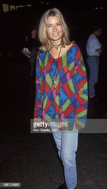 Actress/Model Kimber Sissons attending the premiere of '3 of Hearts' on April 29 1993 at the Director's Guild Theater in Hollywood California