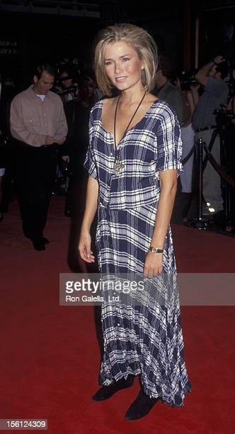 Actress/Model Kimber Sissons attending the premiere of 'Honeymoon In Vegas' on August 25 1992 at Mann Chinese Theater in Hollywood California
